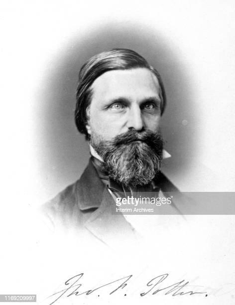 Portrait of American politician Congressman John Fox 'Bowie Knife' Potter circa 1860