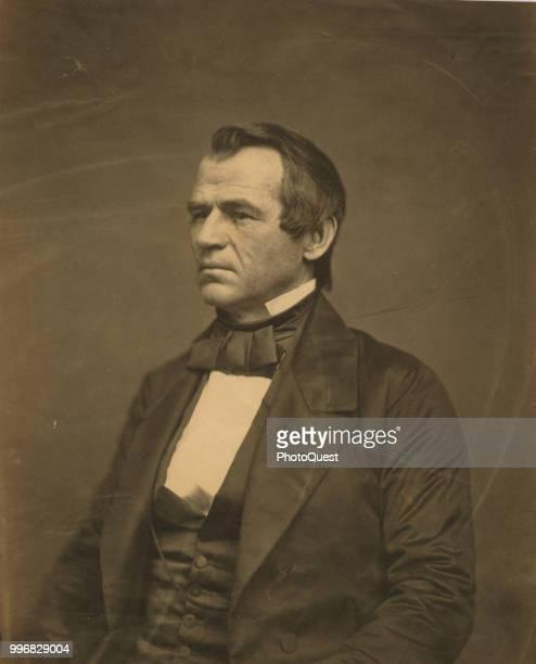 Portrait of American politician Senator Andrew Johnson 1860