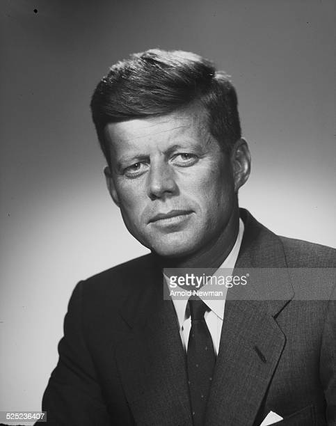 Portrait of American politician Senator John F Kennedy August 9 1956