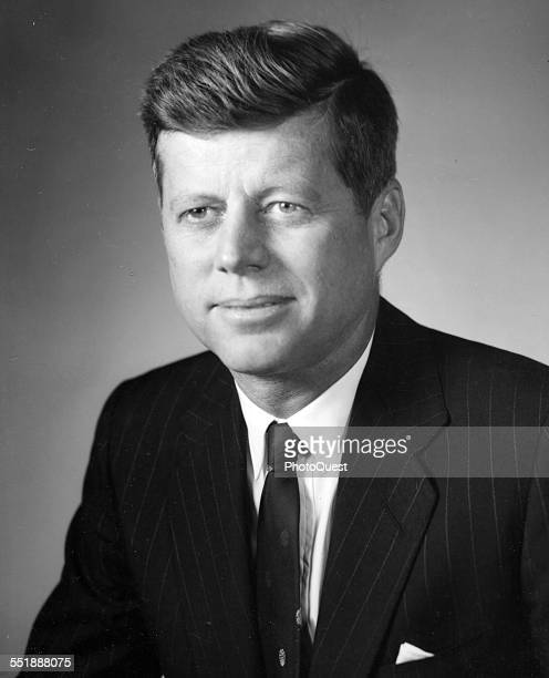 Portrait of American politician Senator John F Kennedy Washington DC 1960
