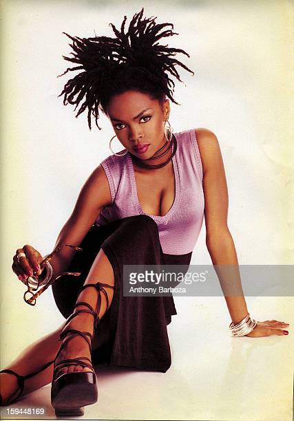 Portrait of American pop and rhythm blues musician Lauryn Hill New York New York 1998