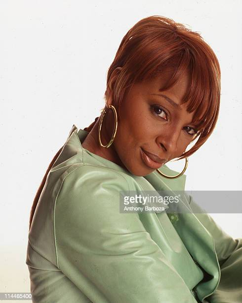 Portrait of American pop and rhythm & blues singer Mary J. Blige, 1990s.