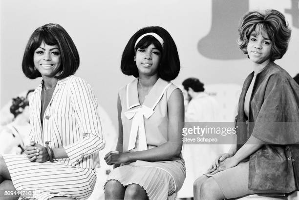 Portrait of American Pop and Soul group the Supremes New York 1965 Pictured are from left Diana Ross Mary Wilson and Florence Ballard