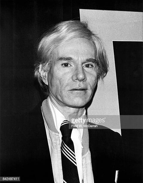 Portrait of American pop artist Andy Warhol at a press party for the Polaroid company New York New York February 1 1978