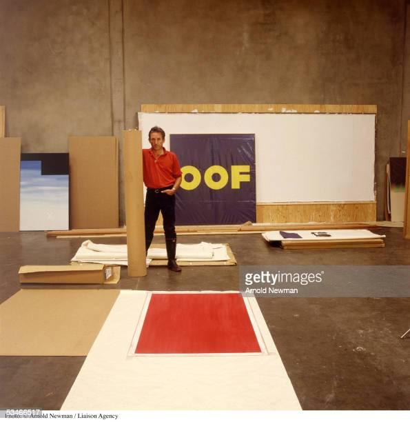 Portrait of American Pop artist Ed Ruscha in his studio November 11, 1985 in Los Angeles, California.