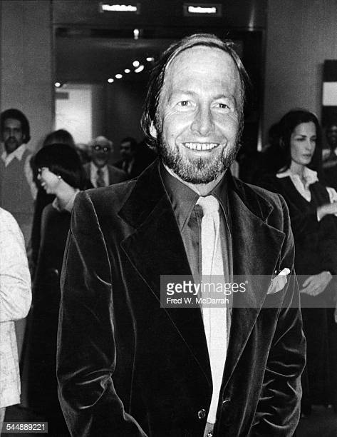Portrait of American Pop artist Robert Rauschenberg at a MOMA exhibit New York New York March 23 1977