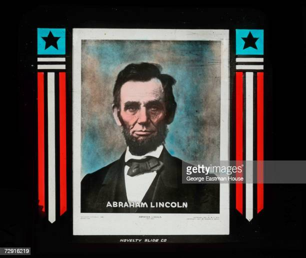 Portrait of American Preisdent Abraham Lincoln 1860s The image was produced in the late 1800s