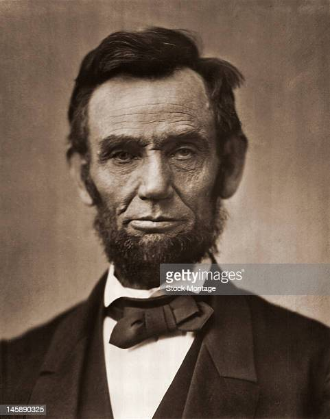 Portrait of American President Abraham Lincoln mid 19th century