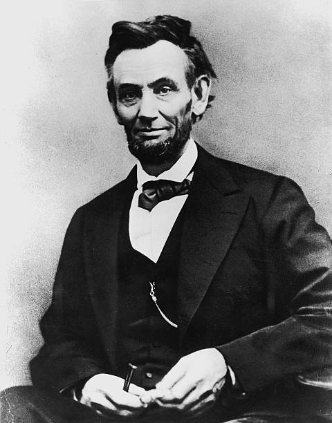 Portrait of American President Abraham Lincoln , the...
