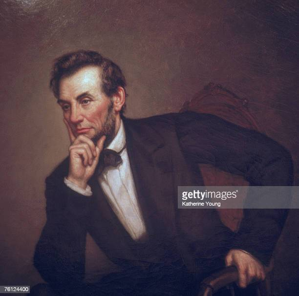 Portrait of American President Abraham Lincoln Washington DC 1969 The portriat was one of three painted by Healy