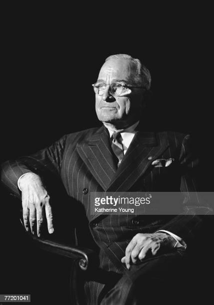 Portrait of American President Harry S Truman mid 1900s
