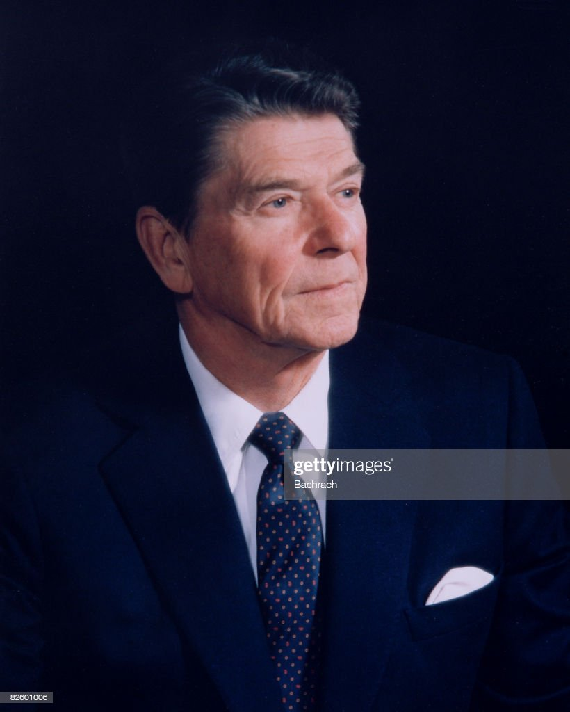 Portrait Of President Ronald Reagan : News Photo