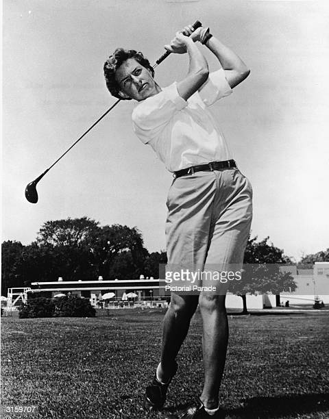 Portrait of American professional golfer Betsy Rawls, at the WWGA championships, Florida, 1952. Rawls also won the U.S. Women's Open four times.