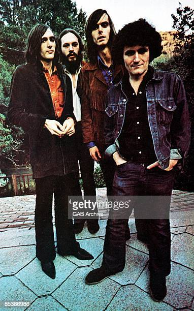 Portrait of American Psychedelic Rock group Quicksilver Messenger Service, late 1960s. Pictured are, from left, John Cipollina , Greg Elmore, Nicky...
