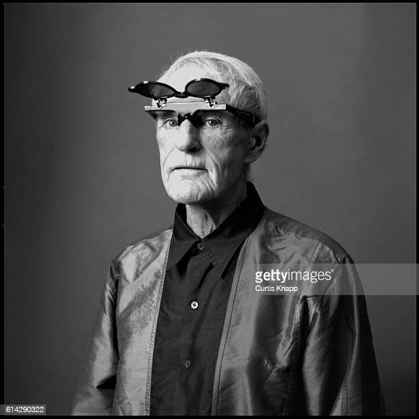 Portrait of American psychologist Timothy Leary Beverly Hills Los Angeles California November 1 1993 He wears flipup sunglasses