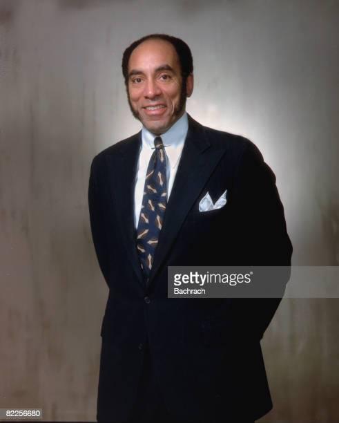 Portrait of American publisher Earl Gilbert Graves Sr founder of 'Black Enterprise' magazine New York 1983