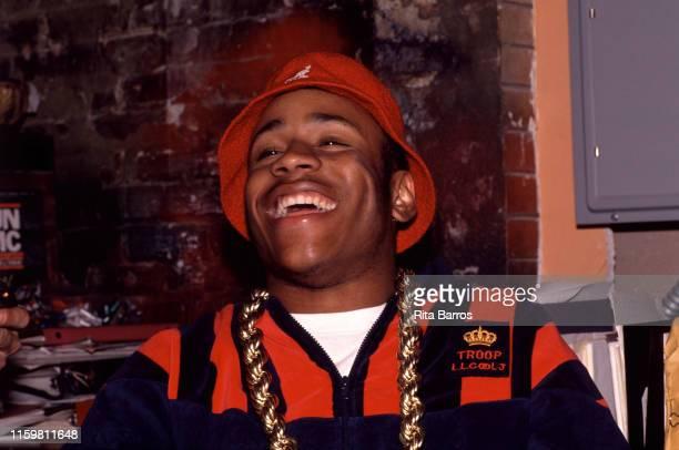 Portrait of American rapper LL Cool J , New York, April 23, 1990.