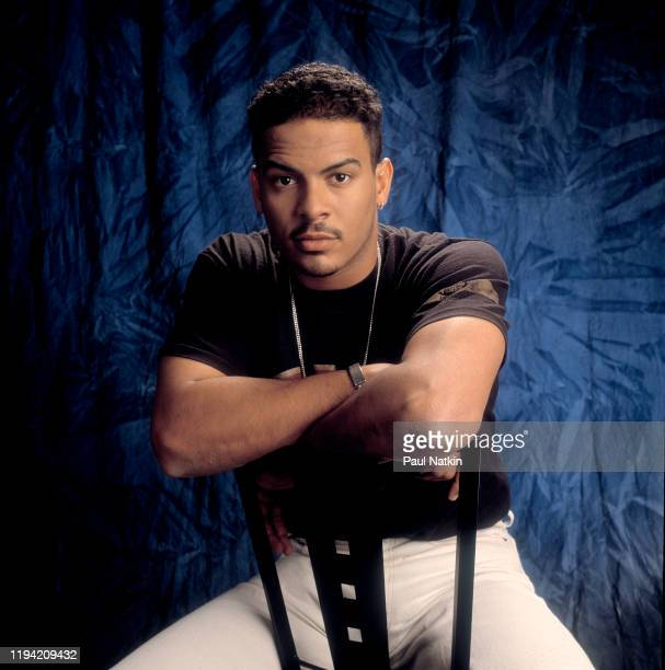 Portrait of American RB singer and actor Christopher Williams as he poses during a photo shoot in a studio Chicago Illinois September 12 1992