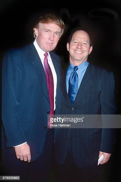 Portrait of American real estate developer Donald Trump and magazine publisher Ron Galotti as they attend a party in Trump Tower New York New York...