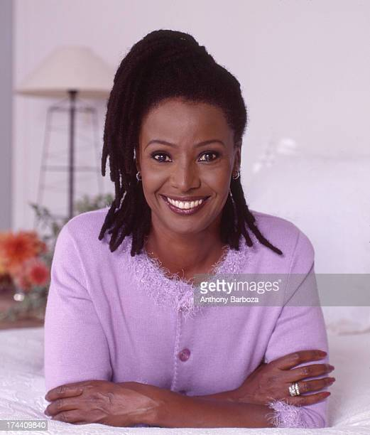 Portrait of American restaurateur and television host B Smith New York 1990s
