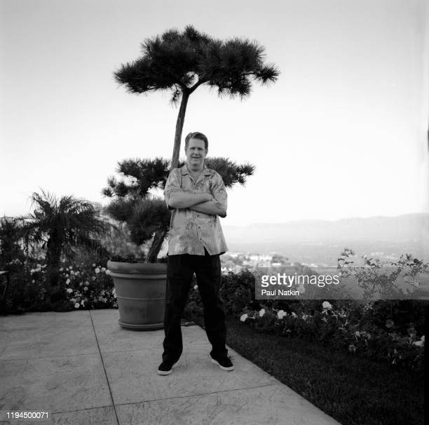 Portrait of American Rock and Pop musician Brian Wilson as he poses outside his home Los Angeles California September 12 1999