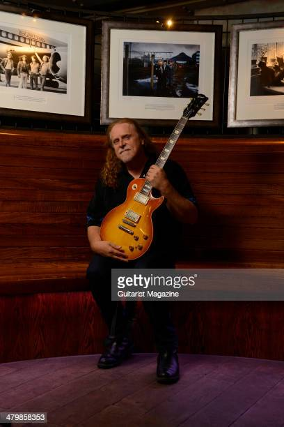 Portrait of American rock guitarist Warren Haynes photographed before a live performance with Gov't Mule at Under The Bridge in London on July 4 2013...