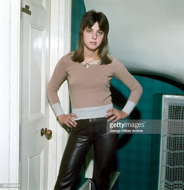 Portrait of American rock musician and actress Suzi Quatro London England 1973