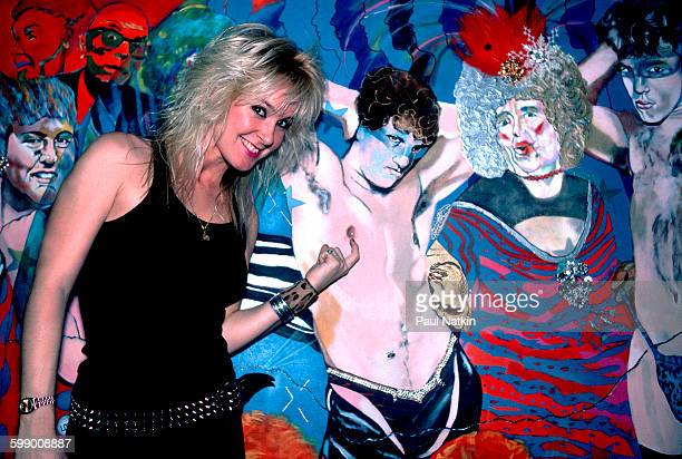 Portrait of American Rock musician Lita Ford as she poses at the Metro nightclub Chicago Illinois September 30 1984
