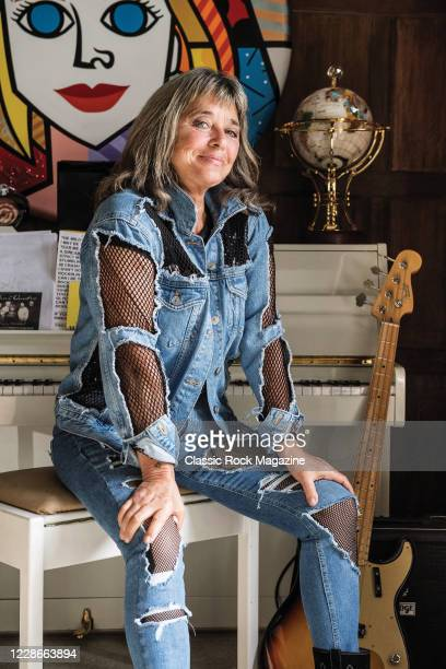 Portrait of American rock musician Suzi Quatro, photographed at her home in Essex, England, on August 16, 2017.