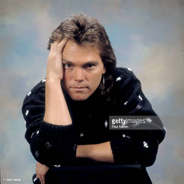 Portrait of American Rock musician Timothy B Schmidt as he poses in a photo studio, Chicago, Illinois, October 22, 1987.