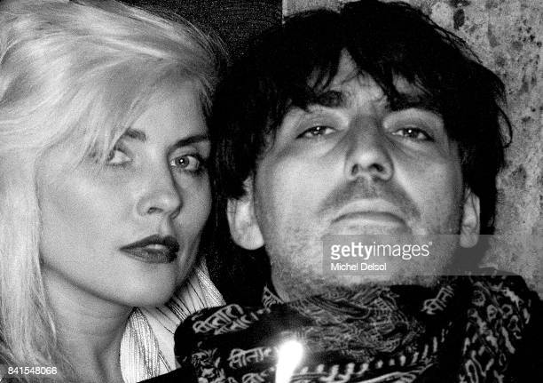 Portrait of American Rock musicians Debbie Harry and Chris Stein both of the group Blondie New York New York October 9 1991