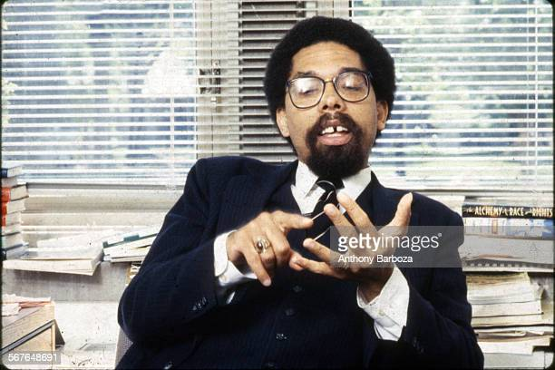 Portrait of American scholar activist and Princeton University professor Cornel West 1994