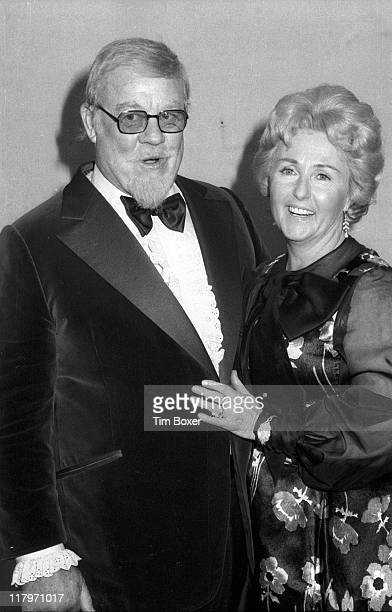 Portrait of American singer and actor Burl Ives and his wife Dorothy Koster Paul backstage at the 17th Grammy Awards held at the Uris Theater New...
