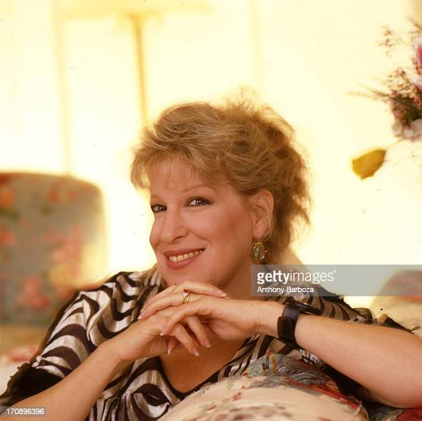 Portrait of American singer and actress Bette Midler Los Angeles California 1980s