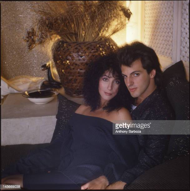 Portrait of American singer and actress Cher and her boyfriend Rob Camilletti 1980s