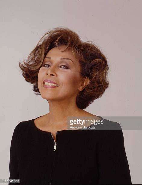 Portrait of American singer and actress Diahann Carroll as she poses against a grey background New York New York early 1999