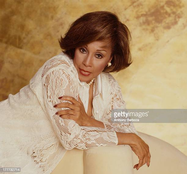 Portrait of American singer and actress Diahann Carroll early 1990s