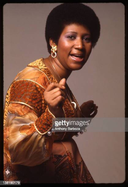Portrait of American singer and musician Aretha Franklin 1973
