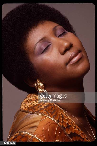 Portrait of American singer and musician Aretha Franklin 1971