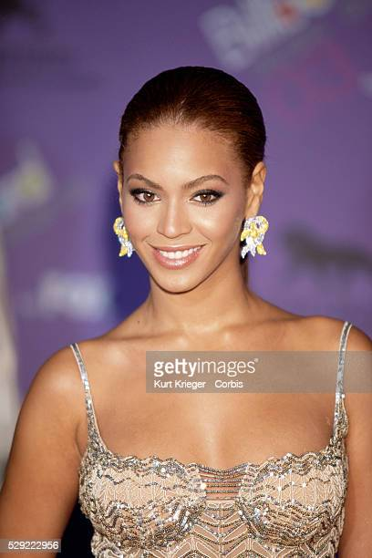 Portrait of American singer Beyonce Knowles Knowles at the 2003 Billboard Music Awards Knowles is the lead singer of Destiny's Child as well as a...