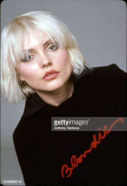 Portrait of American singer Debbie Harry from the band Blondie New York New York 1970s