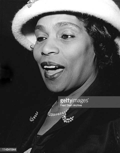 Portrait of American singer Marion Anderson 1959