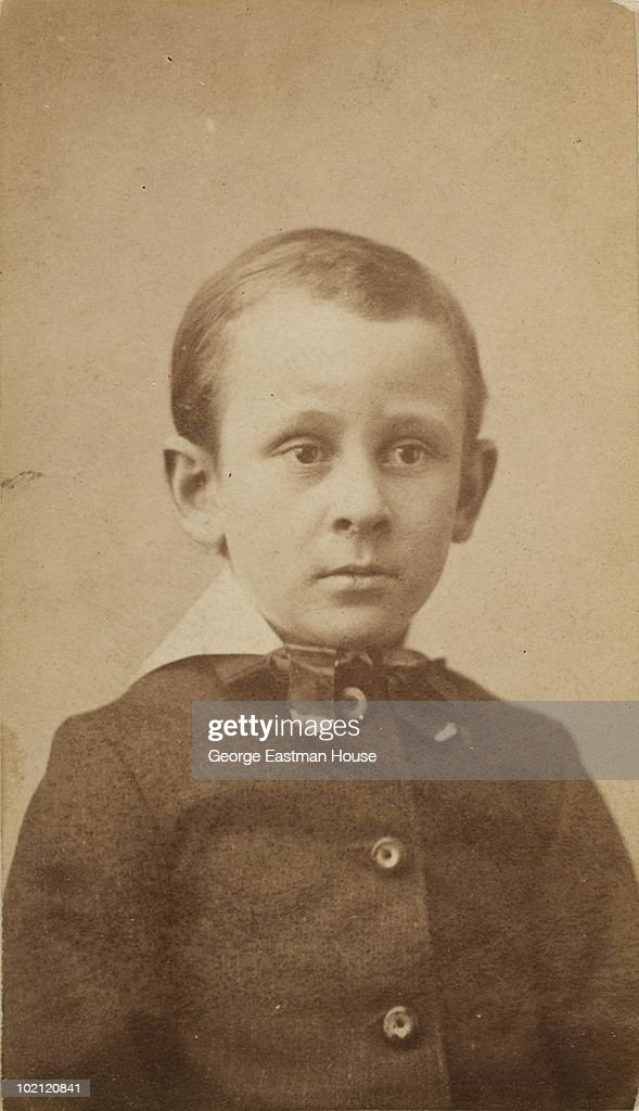Portrait of American sociologist and photographer Lewis Hine (1874 - 1940) as a boy circa 1885.