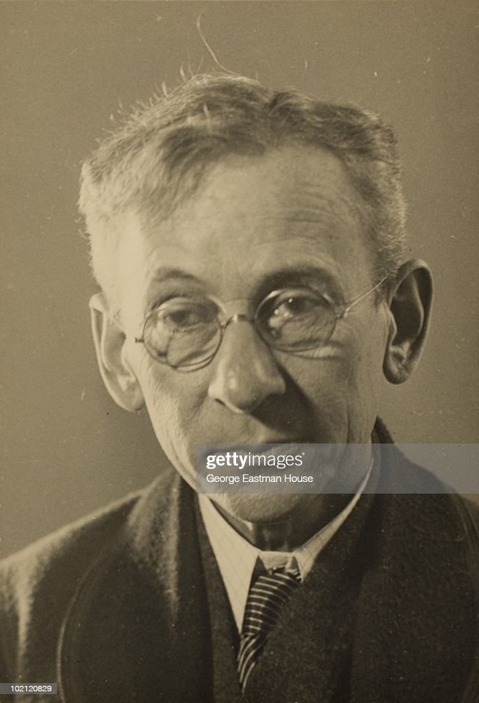 Portrait of American sociologist and photographer Lewis Hine (1874 - 1940) circa 1935.