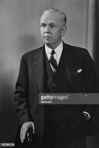 Portrait of American statesman General George Catlett Marshall Jr mid to late 1940s After a long and distinguished military career Marshall served as...