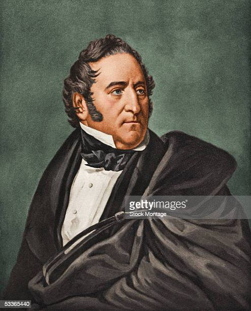 Portrait of American statesman Thomas Hart Benton a US senator and staunch advocate of Westward Expansion of the United States 1830s