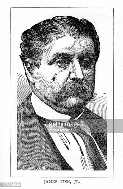 Portrait of American stockbroker and robber baron James Fisk Jr late nineteenth century