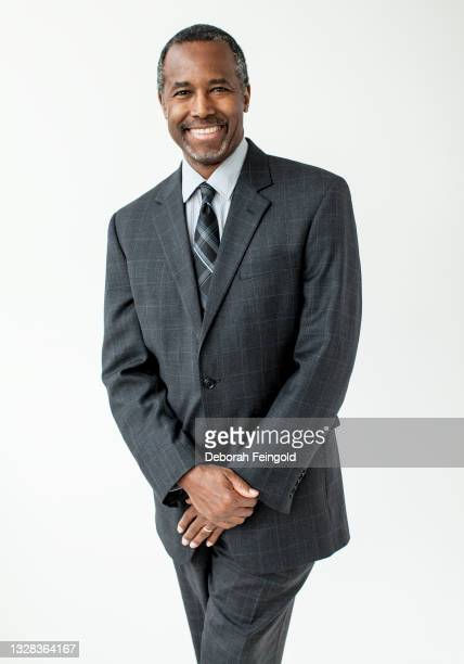 Portrait of American surgeon Ben Carson as he poses against a white background, New York, New York, 2013. The photo was taken the year he retired...
