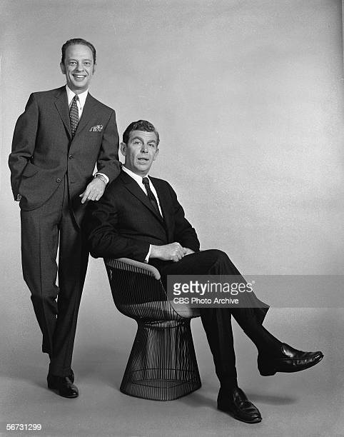 Portrait of American television actors Don Knotts and Andy Griffith January 9 1969