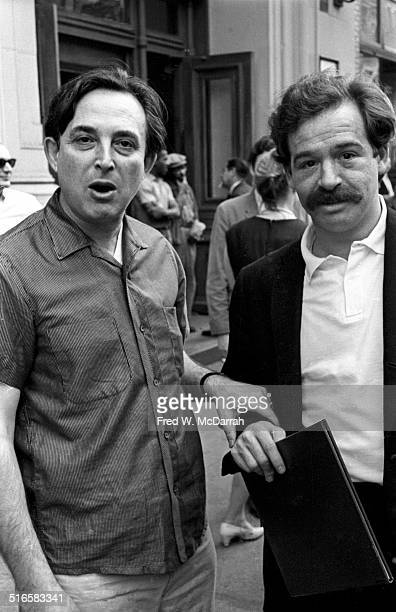 Portrait of American theater director and musician Jacques Levy and an unidentified man New York New York September 9 1968